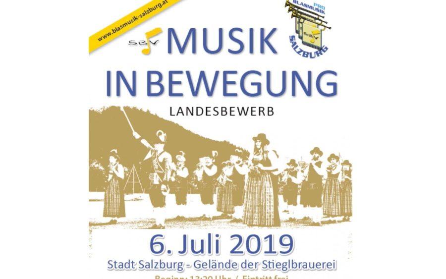 Plakat Marschwertung 2019 - Musik in Bewegung
