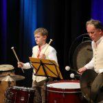 Herbstkonzert 2019 - Schlagzeuger Michael Kofler (links)