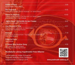 CD Rückseite 80 Jahre Postmusik Salzburg