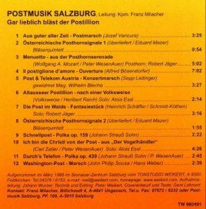 CD Rückseite Gar lieblich bläst der Postillion