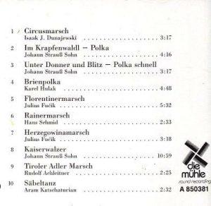 CD Rückseite Unter Donner und Blitz